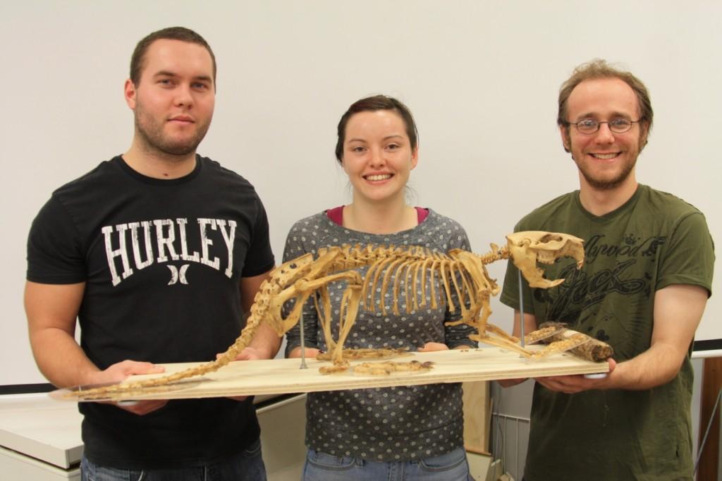 VIU Students with Skeleton