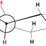 cyclopentane Newman projection
