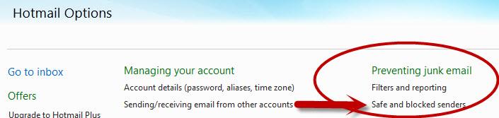 hotmail-safe-senders